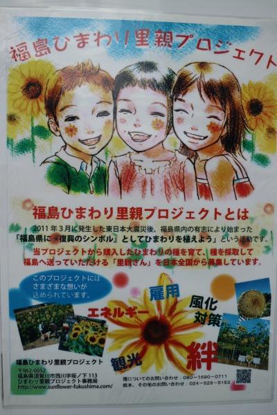 「三菱ふそうトラック・バス川崎工場」の「福島ひまわり里親プロジェクト」