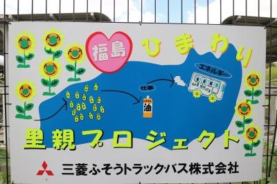 福島ひまわり里親プロジェクトの手作り看板