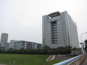 大田区側のキヤノン本社