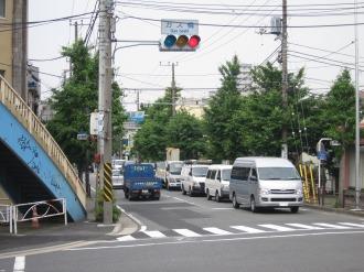 中原区側の道路