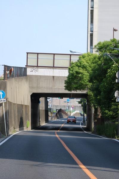 多摩沿線道路と丸子橋の立体交差