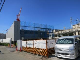 工事中の「クレストフォルム武蔵小杉ブライトコート」