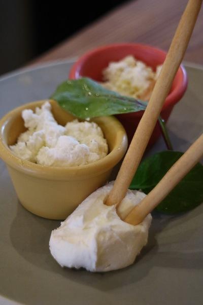 3種のフレッシュチーズ