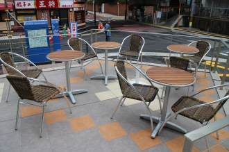 「gooz武蔵小杉店」のテラス席