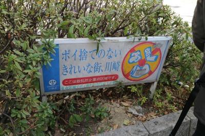 武蔵小杉駅北口の植え込み