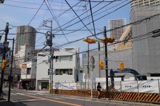 府中街道から市道新丸子東36号線への交差点