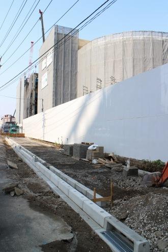 綱島街道の拡幅工事