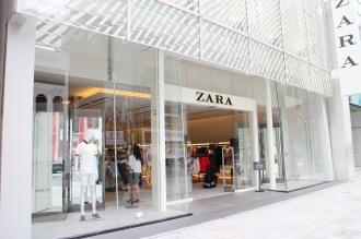 「ZARA」銀座の旗艦店