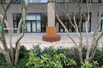 パークシティ武蔵小杉側のオープンスペース