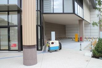 建物周辺の屋外駐輪場(新丸子東交差点側)