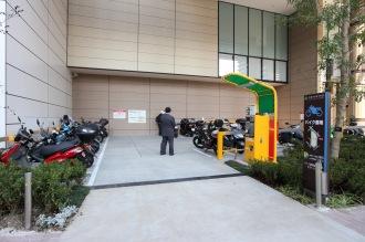 駐輪場Cそばのバイク駐車場