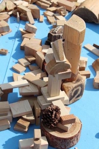 木材で作った建物