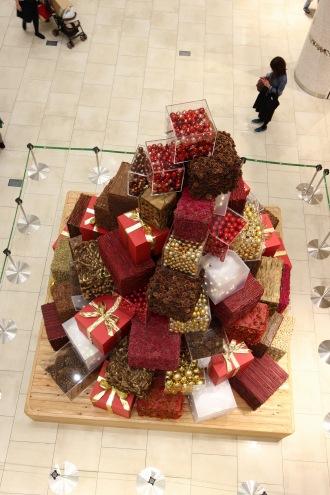 上から見たクリスマスツリー