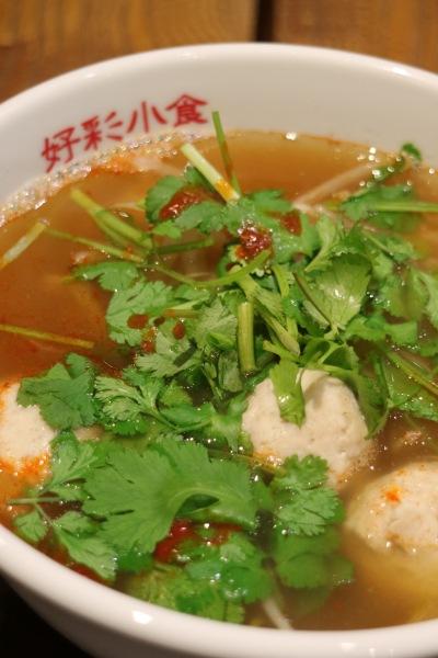 「ハオツァイ」のスープ春雨