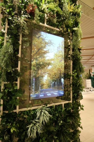 「森」をイメージしたデジタルサイネージ