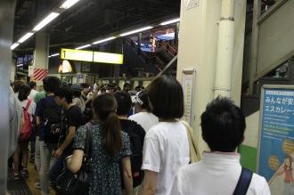 武蔵溝ノ口駅の混雑