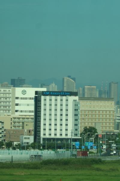 国際線ターミナルから見た武蔵小杉の高層ビル群