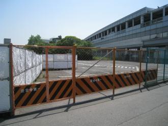 閉鎖された駐車場(ロータリー予定地)