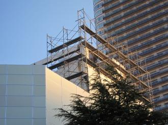 看板があった場所(2011年1月14日撮影)