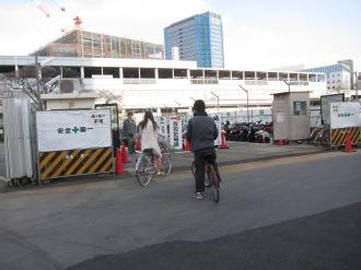 移転した東街区の駐輪場
