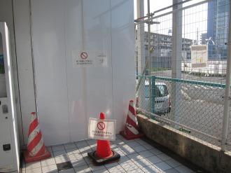 閉鎖された東急武蔵小杉駅東口