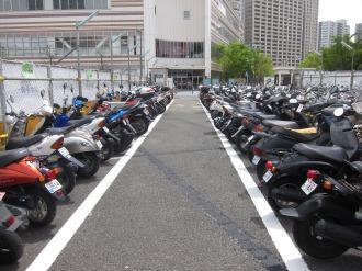 現在の東急武蔵小杉駅自転車等第1駐車場