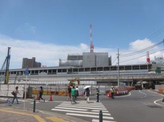 ロータリーおよび地下駐輪場の建設予定地