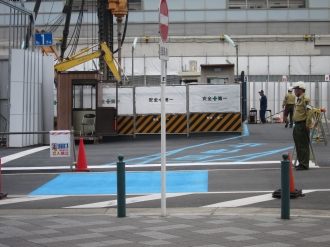駐輪場の移転先(入口)