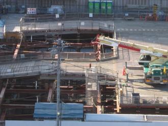地下駐輪場の工事