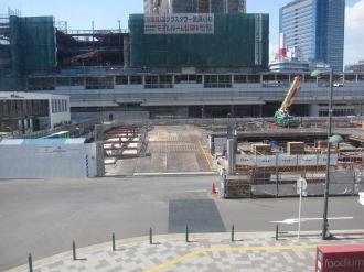北側ロータリーの地下駐輪場建設工事