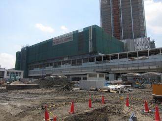 武蔵小杉駅南口地区東街区のロータリー予定地