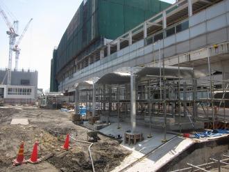 地下駐輪場の出入口(東急武蔵小杉駅側)