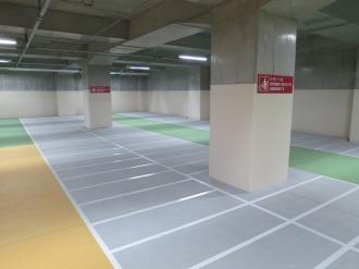 平地式の駐輪スペース