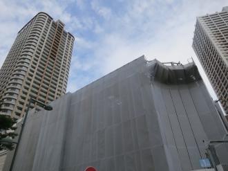 東街区商業施設の前面円形部