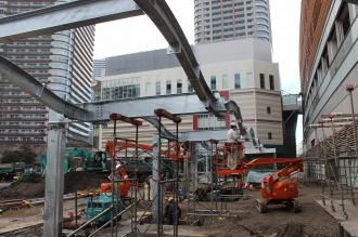 新設「川67系統」が乗り入れを予定する武蔵小杉駅東口ロータリー」