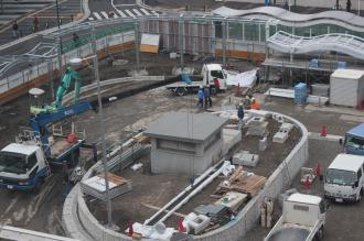 3月供用開始予定の東街区ロータリー