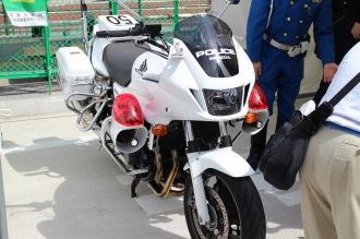 中原警察署の白バイ撮影会