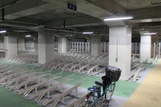 全面供用開始となった地下駐輪場