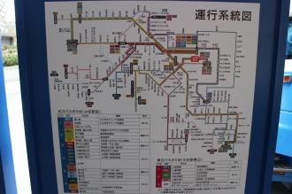 バスの運行系統図
