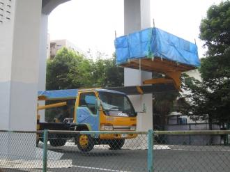 南武線高架の工事
