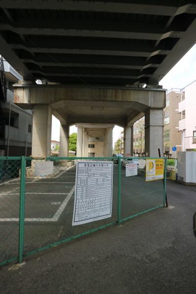 南武線高架下の保育所建設予定地