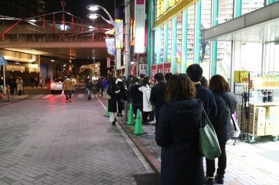 吉野家武蔵小杉南口店の行列