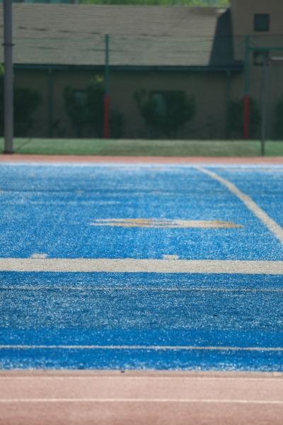 アメリカンフットボール場の人工芝