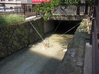 二ヶ領用水の発電機