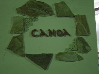 「CANOA」の看板