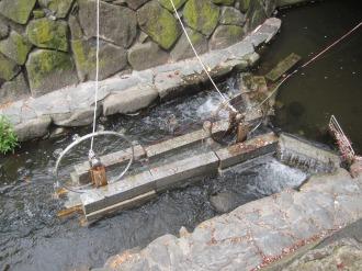 増強された「二ヶ領用水発電所」の水車