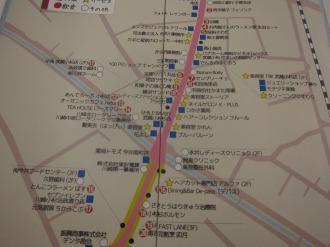 法政通り商店街の地図