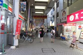 武蔵新城のアーケード商店街「あいもーる」