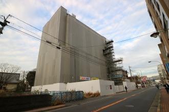 建設中の川崎市医師会館ビル