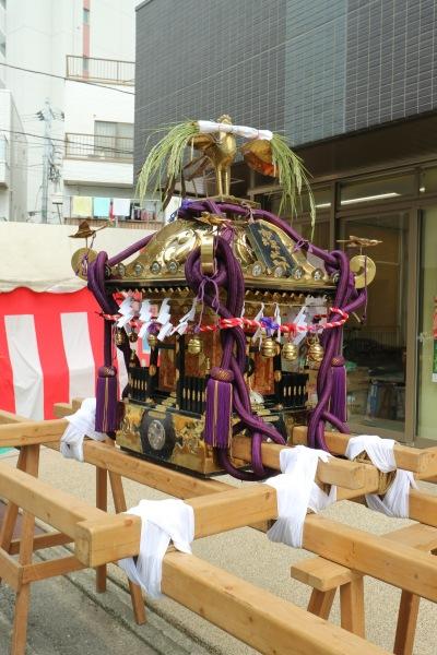 町内の神輿